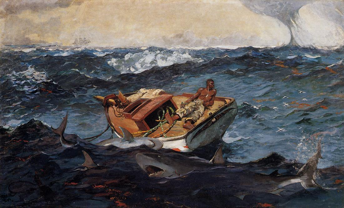 湾流, 1906 通过 Winslow Homer (1836-1910, United States) | 畫再現 | WahooArt.com