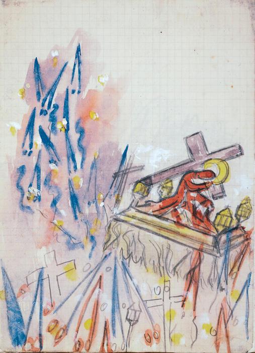 """""""耶稣背着十字架"""", 1951"""