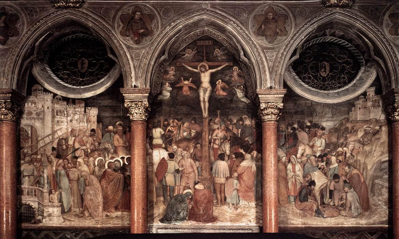 耶稣被钉十字架, 壁画