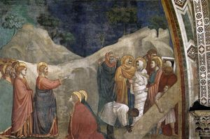 Giotto Di Bondone - 从场景的 生命 of Mary Magdalene : 认识 of  拉撒路