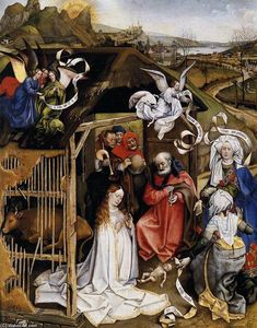 Robert Campin (Master Of Flemalle) -  的  耶稣诞生