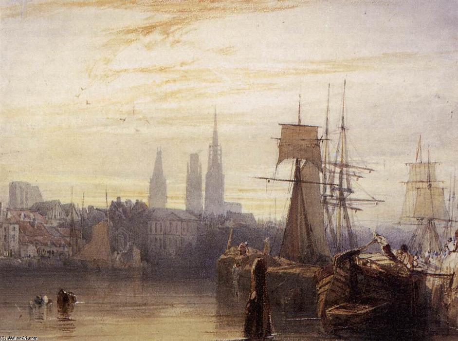 鲁昂, 1825 通过 Richard Parkes Bonington (1802-1828, United Kingdom) | 幀畫冊專輯 | WahooArt.com