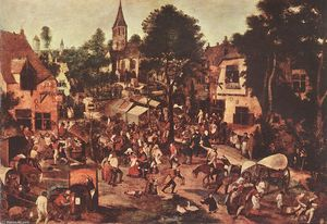 Pieter Bruegel The Younger - 村庄 盛宴