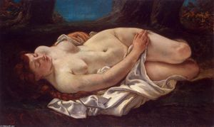 Gustave Courbet -  斜倚 女性