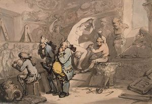 Thomas Rowlandson - 雕塑家店