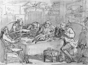 Thomas Rowlandson -  的 鱼儿 晚会