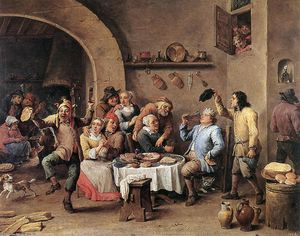 David The Younger Teniers - 第十二夜  的  国王 饮料