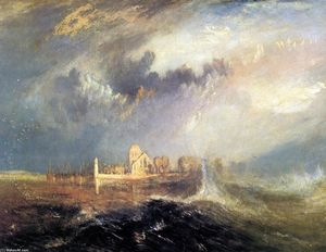 William Turner - Quillebeuf,在塞纳河的口