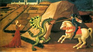 Paolo Uccello -  st `george`  和  龙