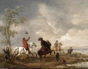 Philips Wouwerman - 一个党霍金