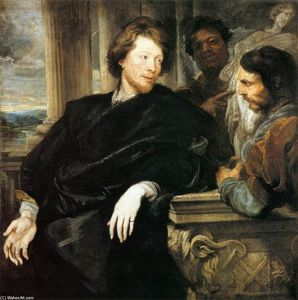 Anthony Van Dyck - George Gage  有两个 男人