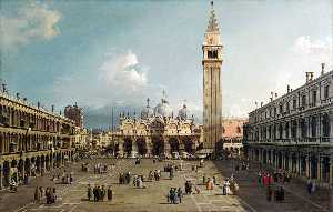 Giovanni Antonio Canal (Canaletto) - 圣马可广场 与  的  大殿