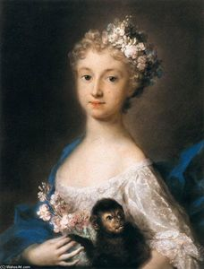 Rosalba Carriera - 幼女  控股 一个 猴子