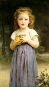 William Adolphe Bouguereau - 小姑娘 控股  苹果