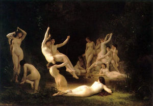 William Adolphe Bouguereau - 香格里拉nymphee(亦称Nymphaeum)