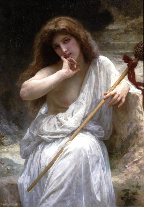 Mailice, 1899 通过 William Adolphe Bouguereau (1825-1905, France)