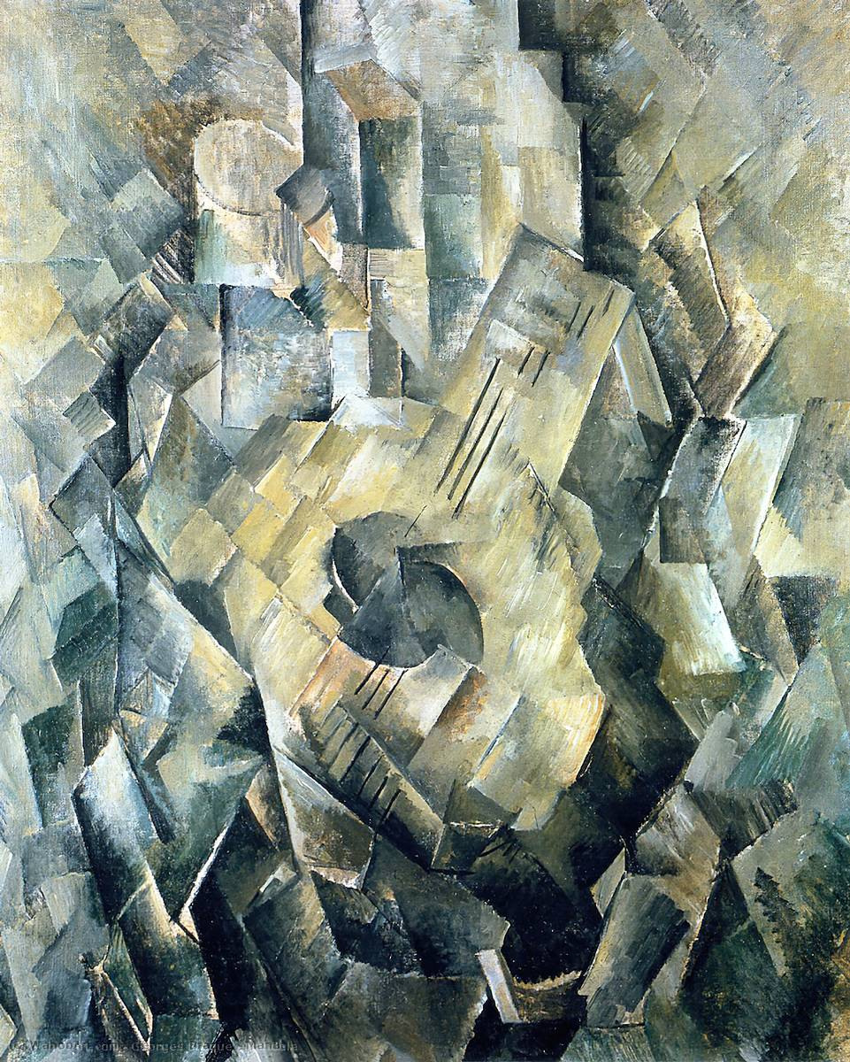 曼多拉, 1910 通过 Georges Braque (1882-1963, France) |  | WahooArt.com