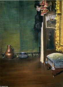 William Merritt Chase - 我可以进来吗?