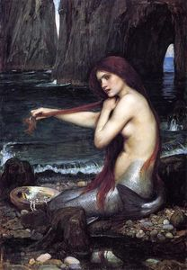 John William Waterhouse - 一个 美人鱼