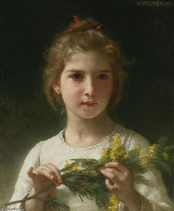 William Adolphe Bouguereau - 含羞草