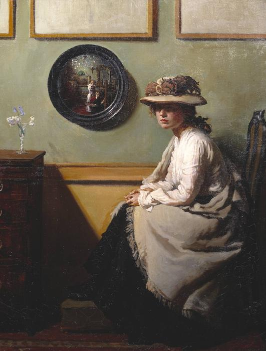 的  镜像, 1900 通过 William Newenham Montague Orpen (1878-1931, Ireland) | 傑作拷貝 | WahooArt.com