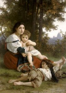 William Adolphe Bouguereau - 母亲  和 孩子