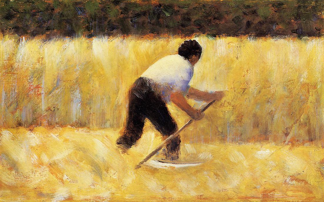 割草机, 1882 通过 Georges Pierre Seurat (1859-1891, France) | 幀打印 | WahooArt.com