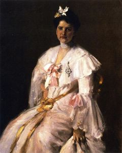 William Merritt Chase - 太太 . 追逐 ( 也被称为 夫人的画像 . 追逐 , 夫人的画像 . C . )