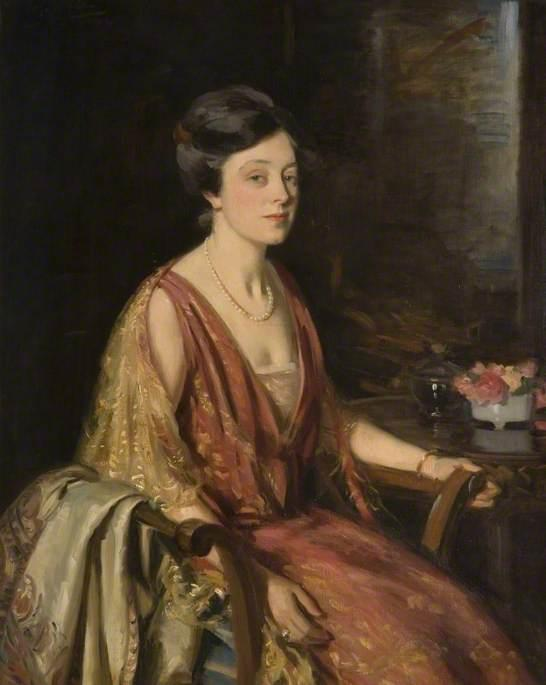 杜内维尔·张伯伦, 油画 通过 Wilfred Gabriel De Glehn (1870-1951, United Kingdom)