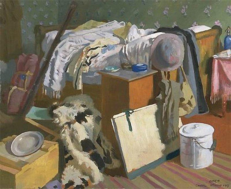 我在卡塞尔工作室, 1917 通过 William Newenham Montague Orpen (1878-1931, Ireland)