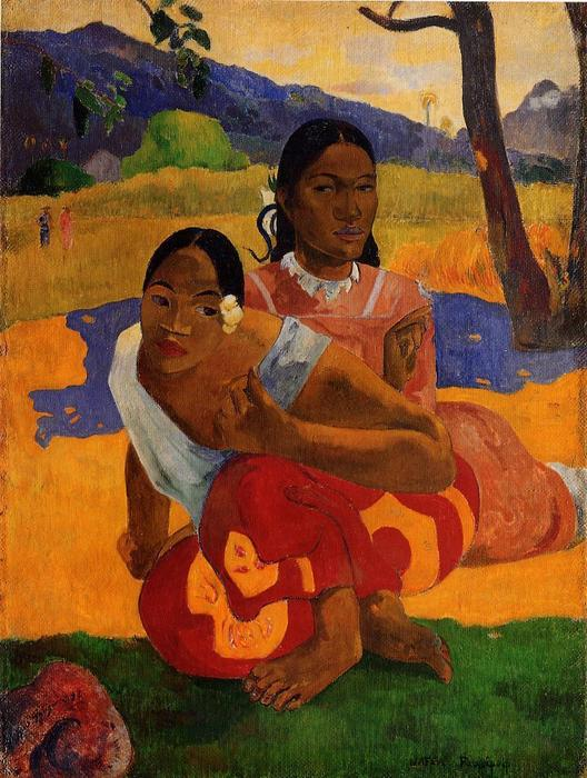 nafeaffaa ipolpo ( 也被称为 当 将 您 结婚 . ), 油画 通过 Paul Gauguin (1848-1903, France)