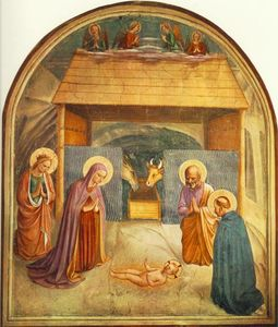 Fra Angelico -  耶稣诞生 ( Convento di San Marco , Florence )