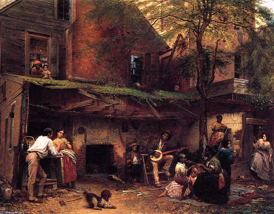 Negro 生命研究 南, 1859 通过 Jonathan Eastman Johnson (1824-1906, United Kingdom) | 手工畫 | WahooArt.com
