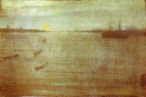 James Abbott Mcneill Whistler - 夜曲:蓝色和金色 - 南安普敦水