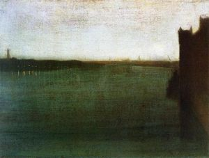 James Abbott Mcneill Whistler - 夜曲 灰色  和  金  -   威斯敏斯特  桥