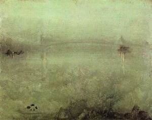James Abbott Mcneill Whistler - 夜曲:银和猫眼石