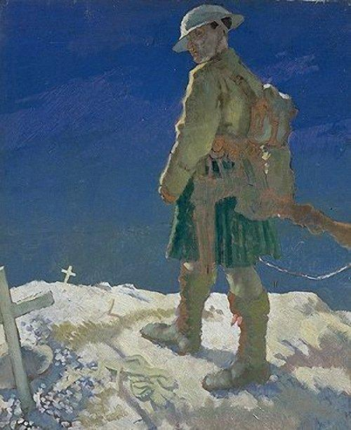 在法国旁观者, 1921 通过 William Newenham Montague Orpen (1878-1931, Ireland) | 傑作拷貝 | WahooArt.com