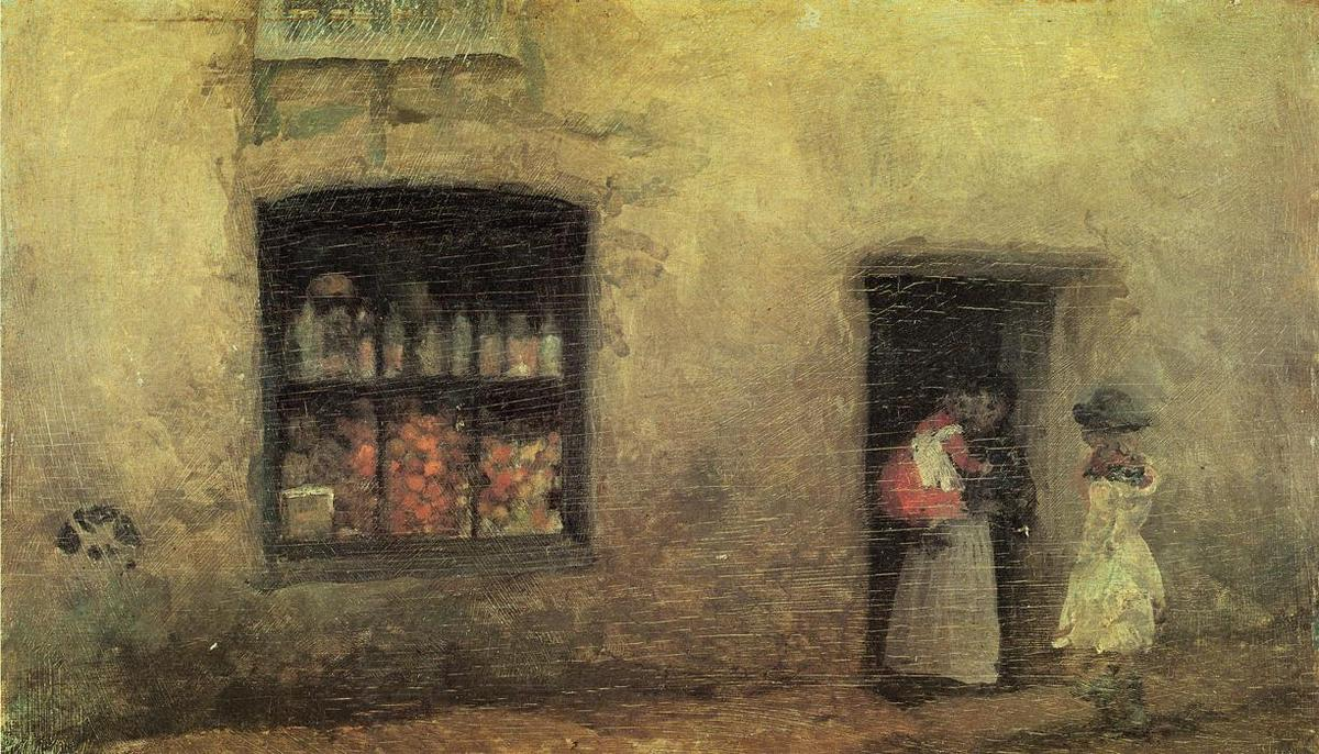 橙色注意:糖果店, 1884 通过 James Abbott Mcneill Whistler (1834-1903, United States) | 手工油畫 James Abbott Mcneill Whistler | WahooArt.com
