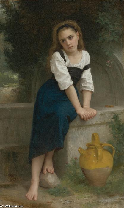 Orphelineà拉封丹, 1883 通过 William Adolphe Bouguereau (1825-1905, France) | 幀畫冊專輯 | WahooArt.com