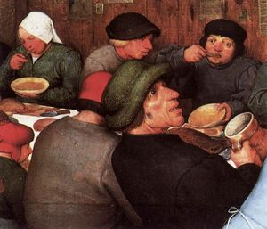 Pieter Bruegel The Elder -  农民 婚纱 细节