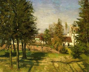Camille Pissarro - The Pine Trees of Louveciennes ( 也是已知的 as The 冷杉 Trees of Louveciennes )