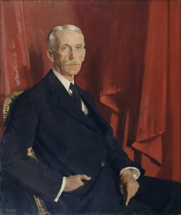 肖像  安德鲁 w¯¯ 梅隆, 1924 通过 William Newenham Montague Orpen (1878-1931, Ireland)