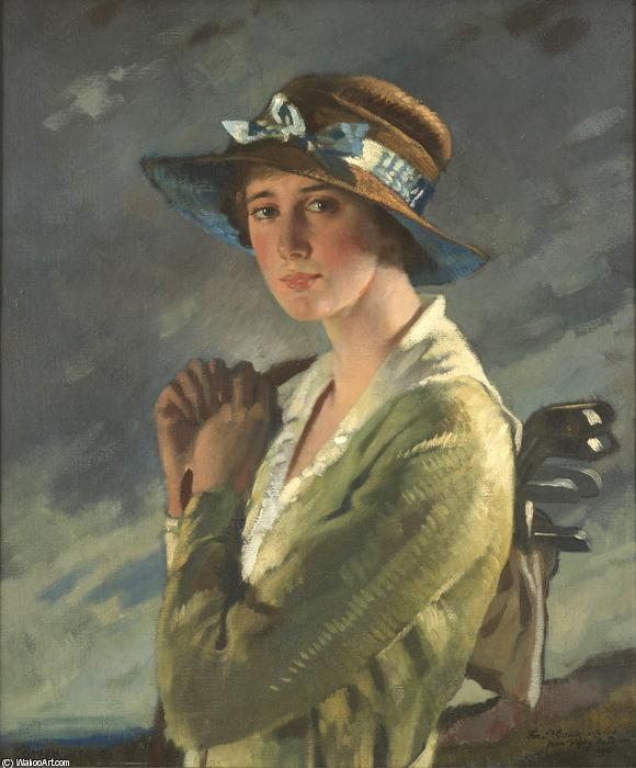 肖像多莉斯泰尔斯的 通过 William Newenham Montague Orpen (1878-1931, Ireland)