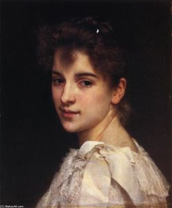 William Adolphe Bouguereau - 加布里埃尔肖像的Drienza