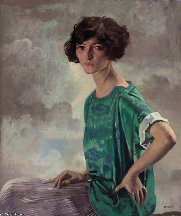 格特鲁德肖像桑福德, 1922 通过 William Newenham Montague Orpen (1878-1931, Ireland)