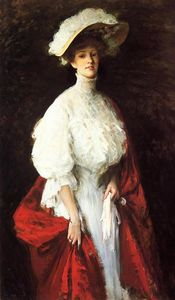 William Merritt Chase - 肖像弗朗西丝小姐厄尔Vonlohr的