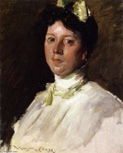 William Merritt Chase -  肖像  年轻的女孩