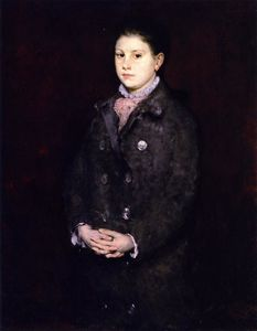 William Merritt Chase -  肖像  年轻  女士