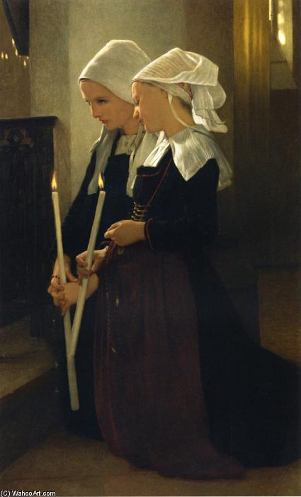 祈祷圣安妮 - d Auray的, 1869 通过 William Adolphe Bouguereau (1825-1905, France) | 傑作拷貝 | WahooArt.com