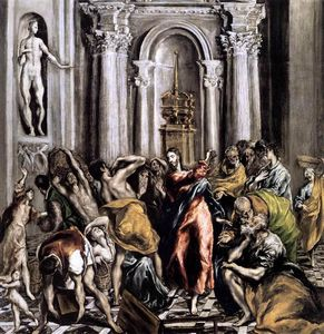 El Greco (Doménikos Theotokopoulos) -  的 `purification`  的  寺